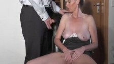 Insane inexperienced Cougar deep throats and humps with jizm